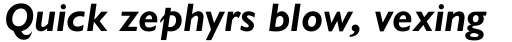Gill Sans Nova Bold Italic sample