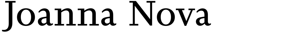 Click to view Joanna Nova font, character set and sample text