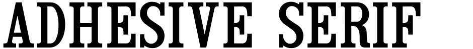 Click to view Adhesive Serif Letters JNL font, character set and sample text