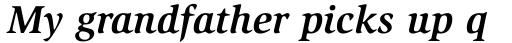 ITC Slimbach Bold Italic sample