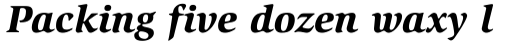 ITC Slimbach Black Italic sample