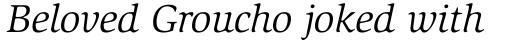 ITC Slimbach Book Italic sample