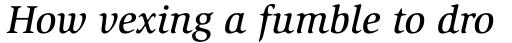 ITC Slimbach Medium Italic sample