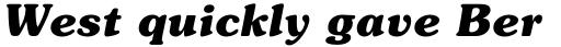 ITC Souvenir Bold Italic sample