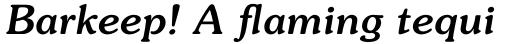 ITC Souvenir Medium Italic sample