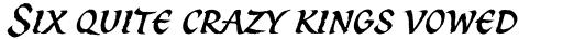 Spirit Italic sample