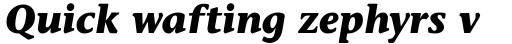 Stone Informal Bold Italic OS sample