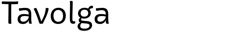 Click to view Tavolga font, character set and sample text
