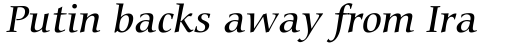 Carmina BT Medium Italic sample