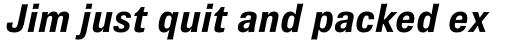 Brown Pro Bold Italic sample