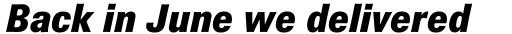 Brown Pro ExtraBold Italic sample