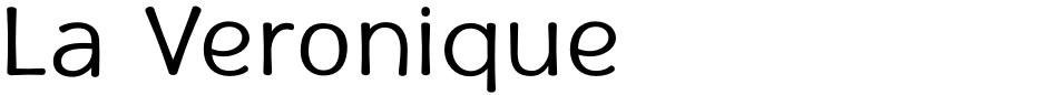 Click to view La Veronique font, character set and sample text