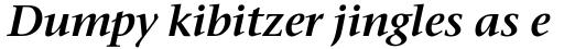 Stone Serif OS SemiBold Italic sample