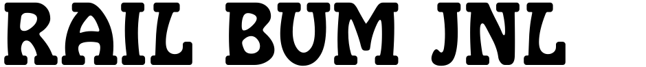 Click to view Rail Bum JNL font, character set and sample text