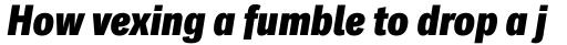 Classic Grotesque Pro Cn XBold Italic sample