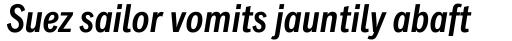 Classic Grotesque Pro Cn SemiBold Italic sample