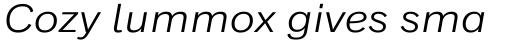 Classic Grotesque Pro Ext Book Italic sample