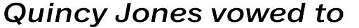 Classic Grotesque Pro Ext Medium Italic sample