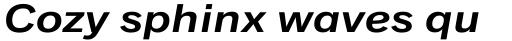 Classic Grotesque Pro Ext SemiBold Italic sample