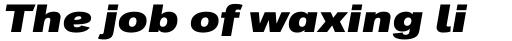 Classic Grotesque Pro Ext XBold Italic sample