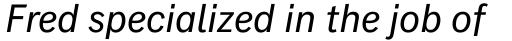 Classic Grotesque Pro-Italic sample