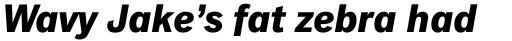 Classic Grotesque Pro-Bold Italic sample