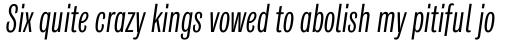 Classic Grotesque Pro Cm Book Italic sample