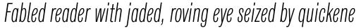 Classic Grotesque Pro Cm Light Italic sample