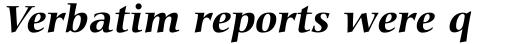 Carmina BT Bold Italic sample