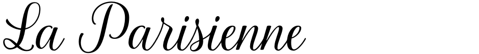 Click to view La Parisienne font, character set and sample text