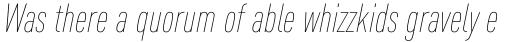 FF DIN Pro Cond Thin Italic sample