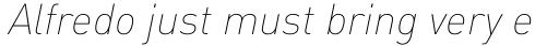 FF DIN Pro Thin Italic sample