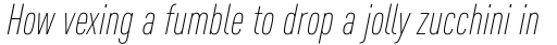 FF DIN OT ExtraLight Italic sample