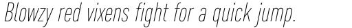 FF DIN OT Cond ExtraLight Italic sample