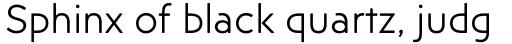 Posterama Text Light sample