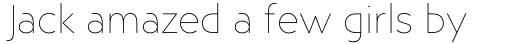 Posterama Text Thin sample