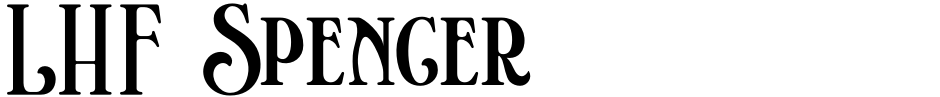 Click to view LHF Spencer font, character set and sample text
