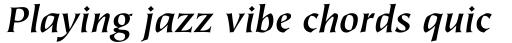 Tiepolo Bold Italic sample