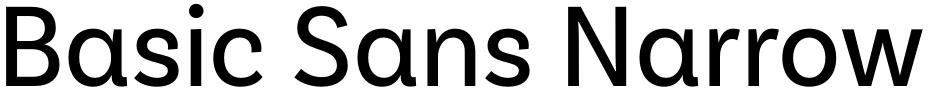 Click to view Basic Sans Narrow font, character set and sample text