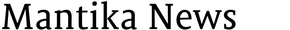 Click to view Mantika News font, character set and sample text