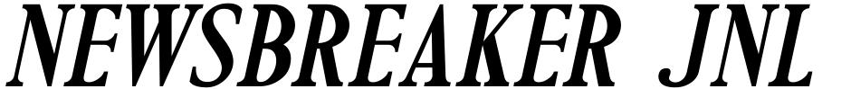 Click to view Newsbreaker JNL font, character set and sample text