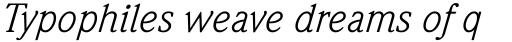 Weidemann Book Italic sample