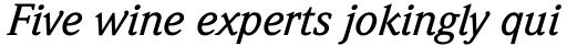 Weidemann Medium Italic sample
