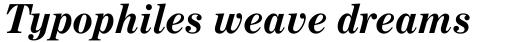 Century Expanded Bold Italic sample