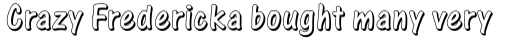 One Stroke Script Shaded sample
