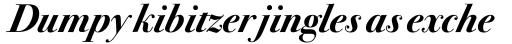ITC Bodoni Seventytwo Bold Italic sample