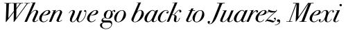 ITC Bodoni Seventytwo Book Italic OS sample