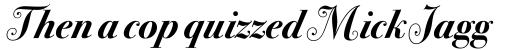 ITC Bodoni Seventytwo Swash Bold Italic sample