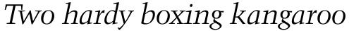 Kuenstler 480 Italic sample