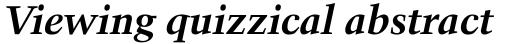 Kuenstler 480 Bold Italic sample
